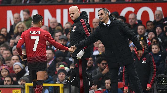 """El cómico """"chascarro"""" que protagonizó Alexis Sánchez después de ser sustituido en la victoria del United"""