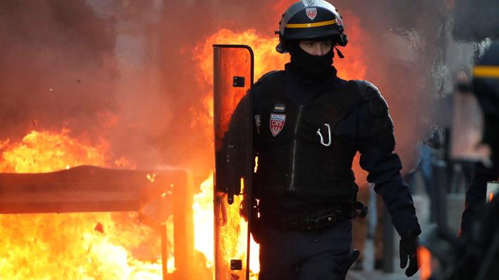 """Al menos 34 detenidos deja la octava movilización de los """"chalecos amarillos"""" en París"""
