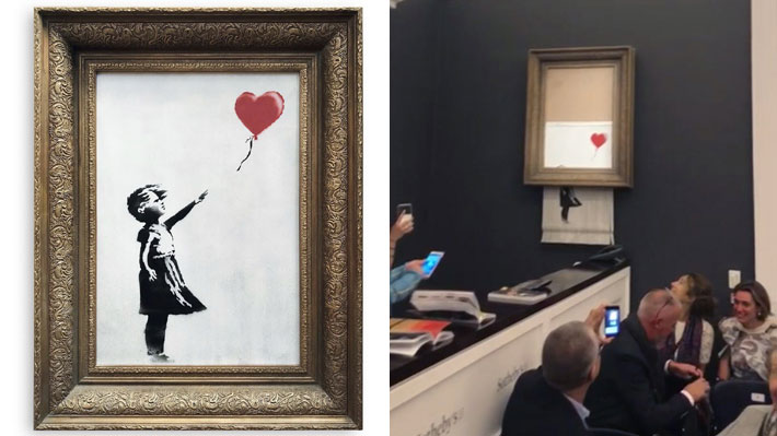 """""""Girl With Balloon"""": Lienzo autodestruido de Banksy será expuesto en Alemania"""