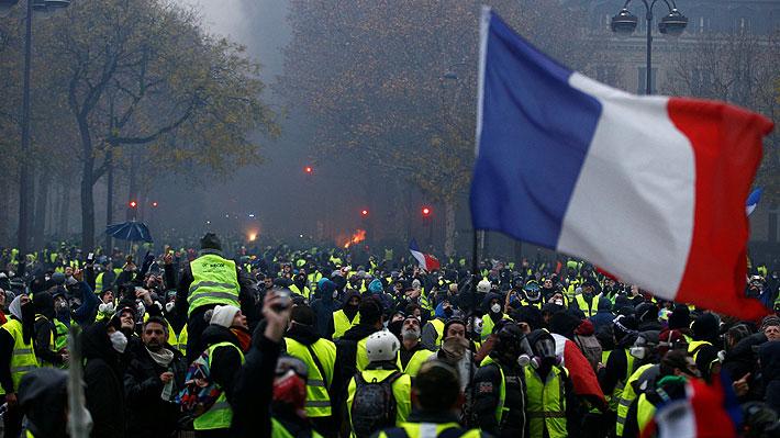"""Por novena semana consecutiva: """"Chalecos amarillos"""" comienzan nueva jornada de protestas en Francia"""