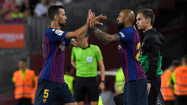 Vidal volvió a ser suplente después de seis partidos e ingresó en el segundo tiempo en goleada del Barcelona sobre el Eibar
