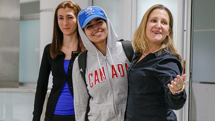 Rahaf al Qunun, la joven que huyó de Arabia Saudita llegó a Canadá tras recibir asilo