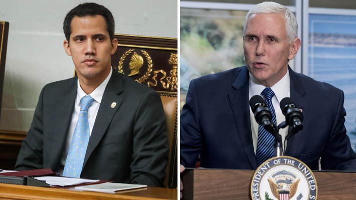 """Mike Pence se contacta con Juan Guaidó y promete su apoyo """"hasta que se restablezca la democracia"""" en Venezuela"""