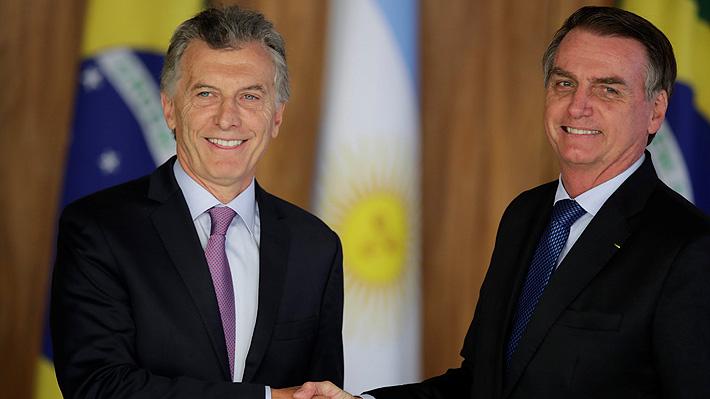"""Bolsonaro y Macri condenan la """"dictadura"""" de Maduro tras reunirse en Brasil"""
