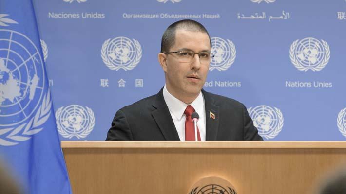 Canciller de Venezuela denuncia en la ONU intento de golpe de Estado de EE.UU.