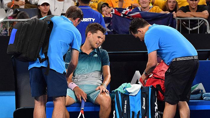 A dos semanas de la serie de Copa Davis ante Austria, Dominic Thiem se lesiona y se retira del Abierto de Australia