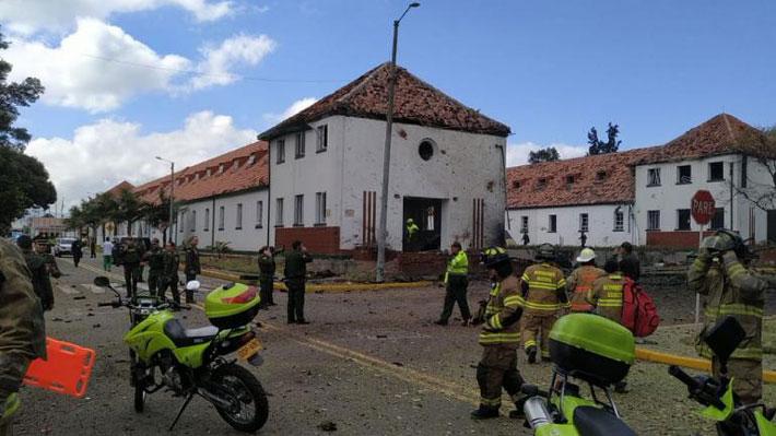 Atentado con autobomba en Escuela de Policías de Colombia deja al menos nueve muertos