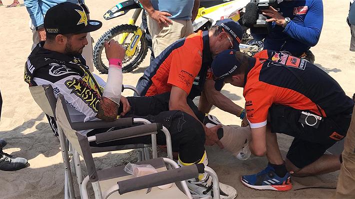 Tuvieron que bajarlo de la moto y no recordaba el accidente: Los convulsionados minutos de Quintanilla tras su fuerte caída