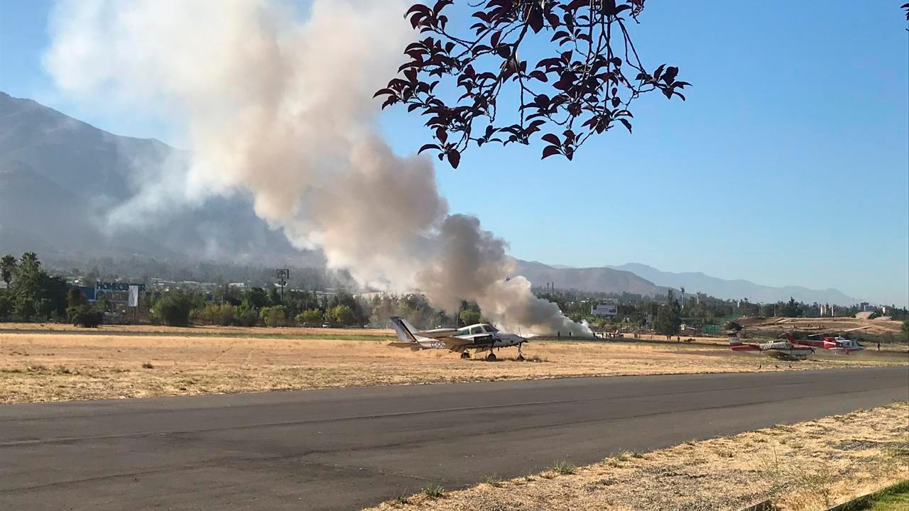 Dos heridos deja accidente de avioneta al interior de aeródromo de Tobalaba