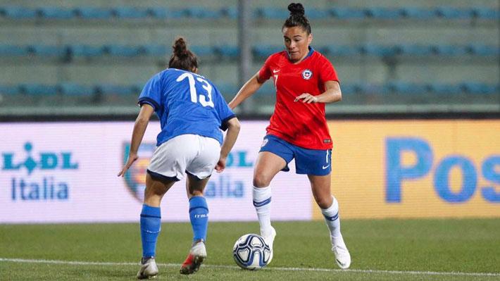 """Con un agónico gol, la """"Roja"""" femenina cayó ante Italia en su primer amistoso del año"""