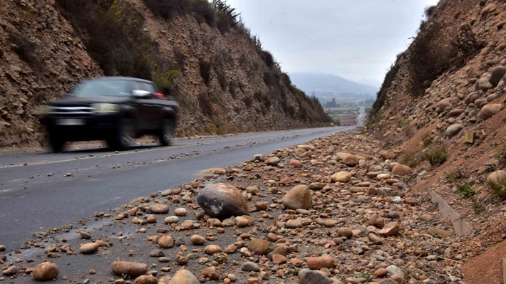 MOP hace positivo balance de estado de rutas tras sismo 6,7 Richter y espera que en 48 horas se despeje el paso Agua Negra