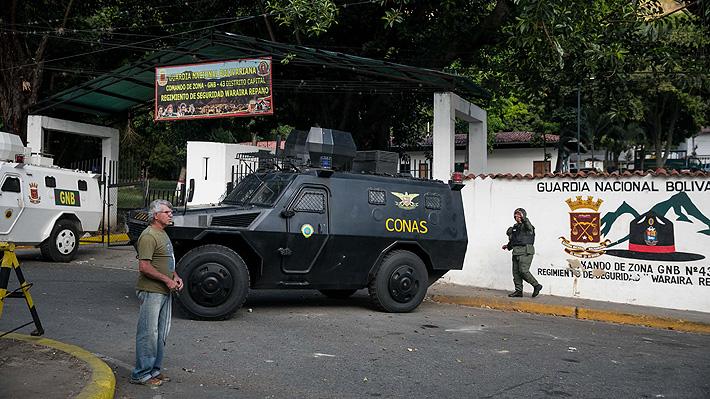 """Gobierno de Venezuela asegura que detuvo """"en tiempo récord"""" a presuntos militares sublevados"""