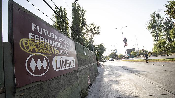 Vecinos de La Reina presentan recurso contra Metro y piden que no se inaugure tramo de la Línea 3
