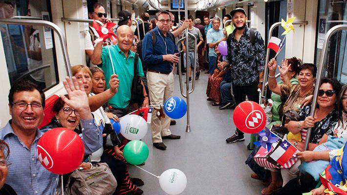 Fotos: Alegría en Santiago, ya se inauguró la nueva Línea 3 del Metro
