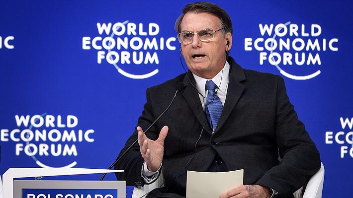 """El debut de Bolsonaro en Davos: Se compromete con el medio ambiente y afirma que la izquierda """"no prevalecerá"""""""