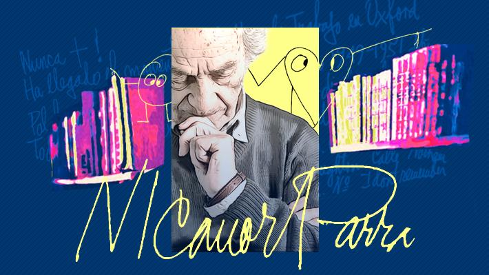 """Primer aniversario de su muerte: Cinco aproximaciones literarias a los """"antiversos"""" de Nicanor Parra"""