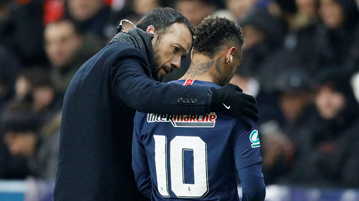 Mira el momento exacto en que Neymar sufrió la lesión que lo hizo irse de la cancha llorando