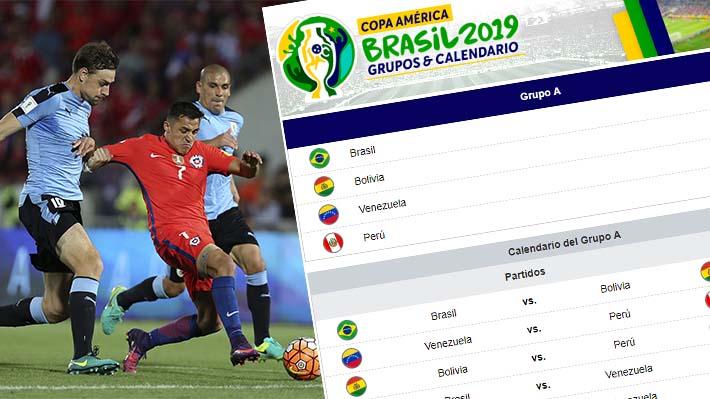 ¿Cuándo juega Chile? Conoce cómo quedó conformado el calendario de la Copa América 2019