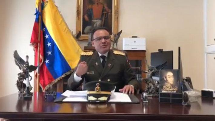Guaidó celebra el apoyo del agregado militar de la Embajada venezolana en Washington