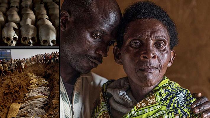 Perdonar lo imperdonable: Asesinos y víctimas posan juntos en fotografías tras genocidio en Ruanda