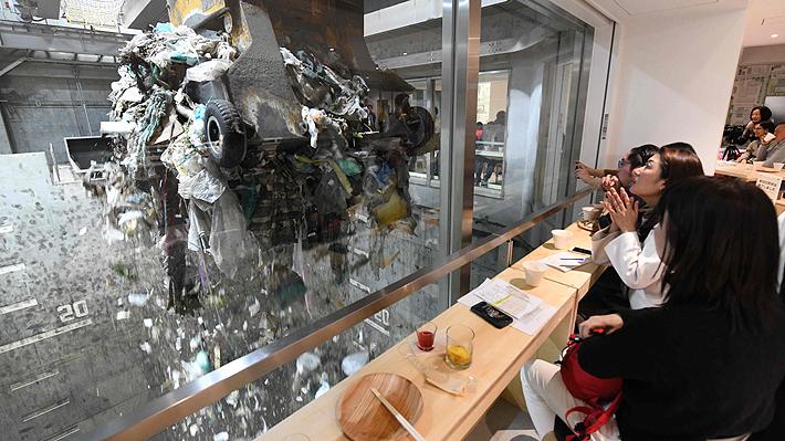 Un restaurante en medio de un basural: Nueva técnica de Japón para crear conciencia medioambiental