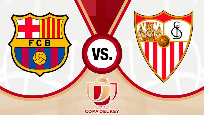Revive la goleada del Barcelona sobre el Sevilla por la Copa del Rey con participación de Vidal sobre el final