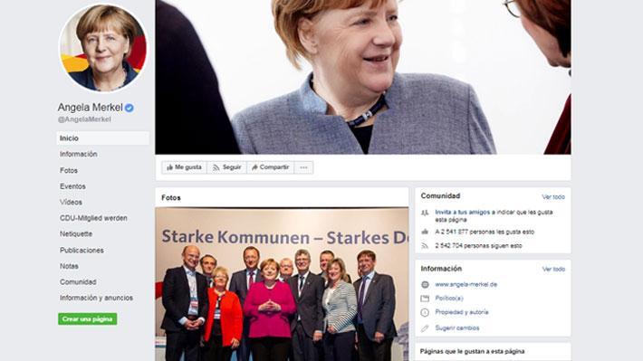 Un paso más lejos de la política: Angela Merkel anuncia el cierre de su cuenta personal de Facebook