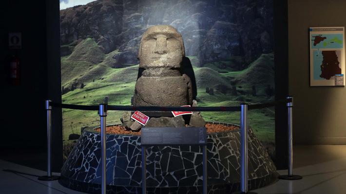 Trasladado en 1921: Moai del Museo Nacional de Historia Natural será restituido a Rapa Nui