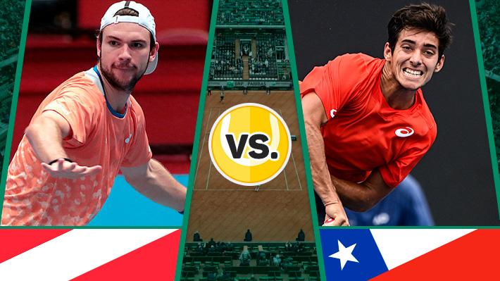 Repase la tremenda victoria de Garin sobre Rodionov para darle el quinto punto a Chile sobre Austria en la Davis