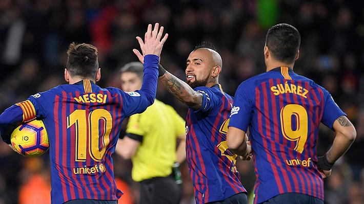 Pase de taco de Vidal: Mira el golazo de Messi ante el Valencia