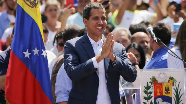 Guaidó anuncia ayuda humanitaria para Venezuela con puntos de acopio en Brasil y Colombia