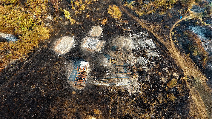 Onemi mantiene Alerta Roja en la provincia de Cautín por incendios forestales