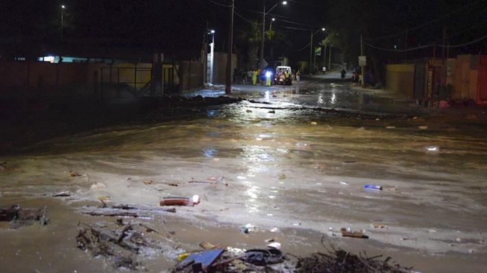 Continúa Alerta Roja en Arica y Parinacota y advierten de posibles aluviones