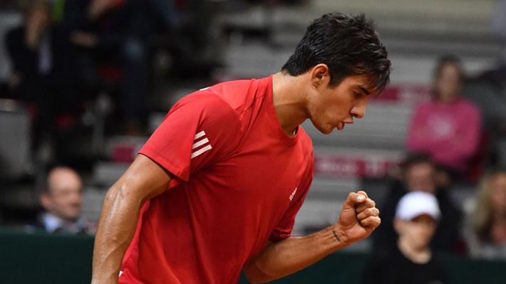 """Mira el maratónico punto de Garin en la Copa Davis que fue tildado de """"increíble"""" por la cuenta oficial del torneo"""