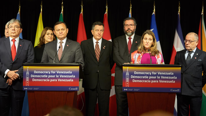 Grupo de Lima incorpora a Venezuela tras solicitud de Guaidó y emplaza a Bachelet a responder por situación del país