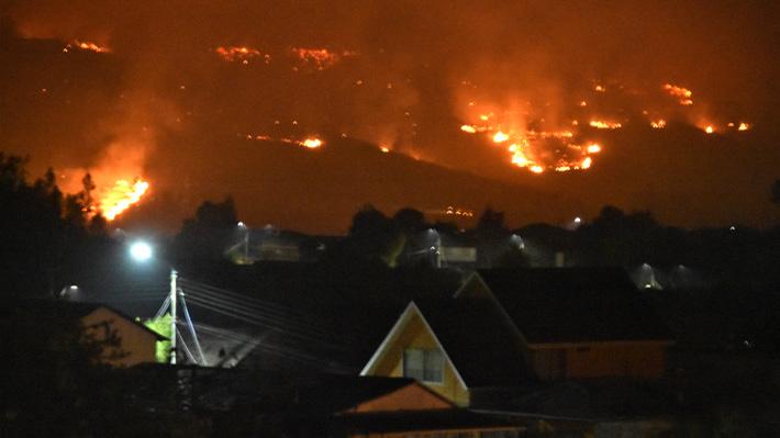 Nuevo balance de Onemi: 44 incendios forestales se encuentran activos a nivel nacional
