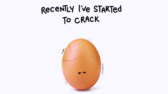 """La verdad detrás de Eugene, el huevo con mayor cantidad de """"likes"""" que lucha por la salud mental"""