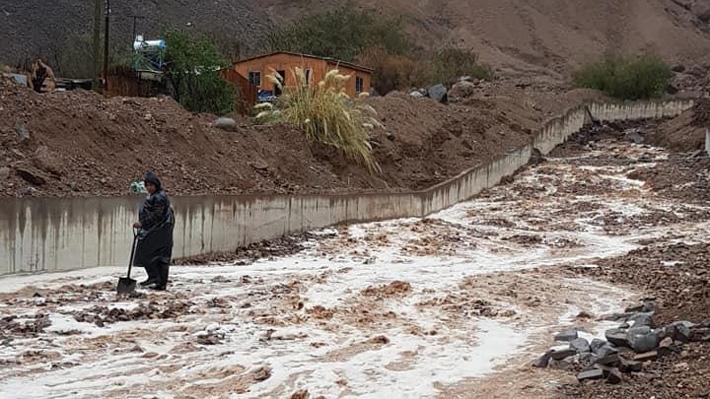 """Onemi hace llamado a poblados de Tarapacá a alejarse de zonas de """"posible aluvión"""""""