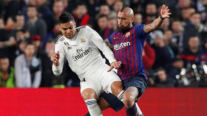 """""""Puso fuerza, garra y carácter"""": Prensa hispana llena de elogios a un """"impetuoso"""" Vidal tras empate del Barça ante el Madrid"""