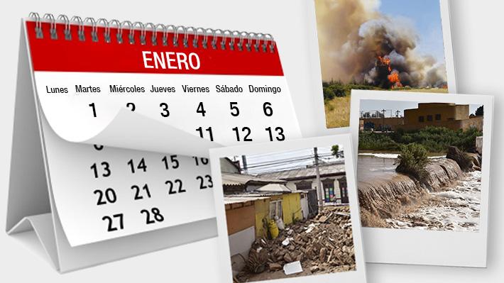Terremoto, lluvias e incendios: Las tres emergencias simultáneas que afectan a ocho regiones del país