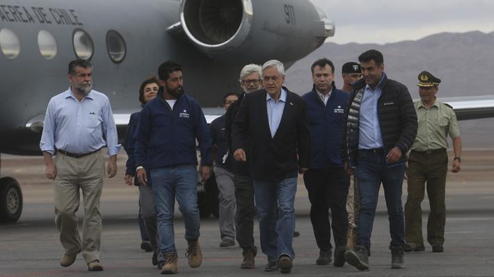 Presidente Piñera declara zona de catástrofe en la provincia de El Loa tras emergencia por lluvias