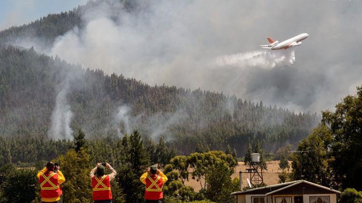 """Tras solo cuatro descargas, """"Ten Tanker"""" sufrió daño en aterrizaje y no estará operativo para los incendios forestales"""