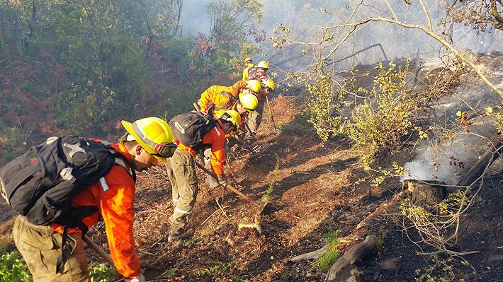Se mantiene Alerta Roja en cuatro regiones, y aún hay 27 incendios forestales activos entre El Maule y Aysén
