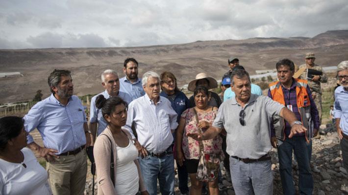Piñera anuncia aumento a 60 mil millones de pesos la ayuda a regiones afectadas por lluvias altiplánicas