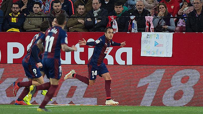 Mira el golazo de Fabián Orellana con el que el Eibar abrió la cuenta ante el Sevilla por la Liga de España