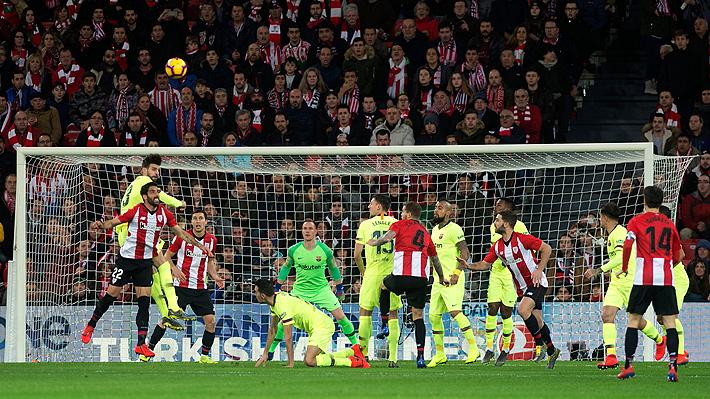 Vidal no destacó en un opaco Barcelona que sólo empató ante el Athletic de Bilbao por la Liga de España