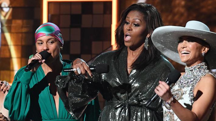 Michelle Obama sorprendió asistiendo a los Grammy 2019 y se llevó la ovación del público
