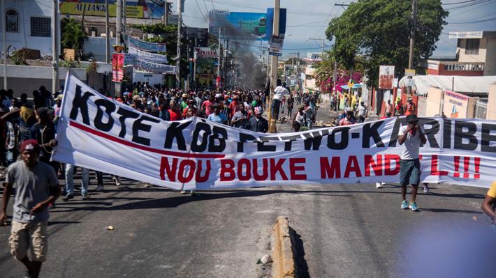 La tensión persiste en Haití en quinto día de protestas contra el Gobierno de Jovenel Moise
