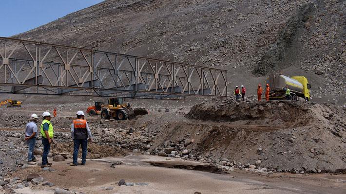Lluvias en el norte: Este martes se habilitará puente mecano en ruta que une Arica e Iquique