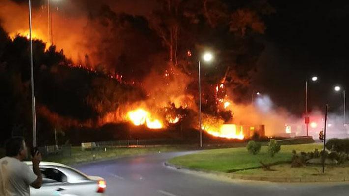 Cuatro incendios forestales amenazan zonas residenciales en sectores de la Región del Biobío